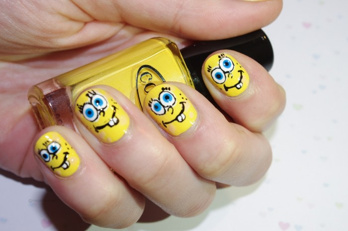 Spongebob nails nail lacquer uk by aj on april 17 2013 in nail art prinsesfo Choice Image