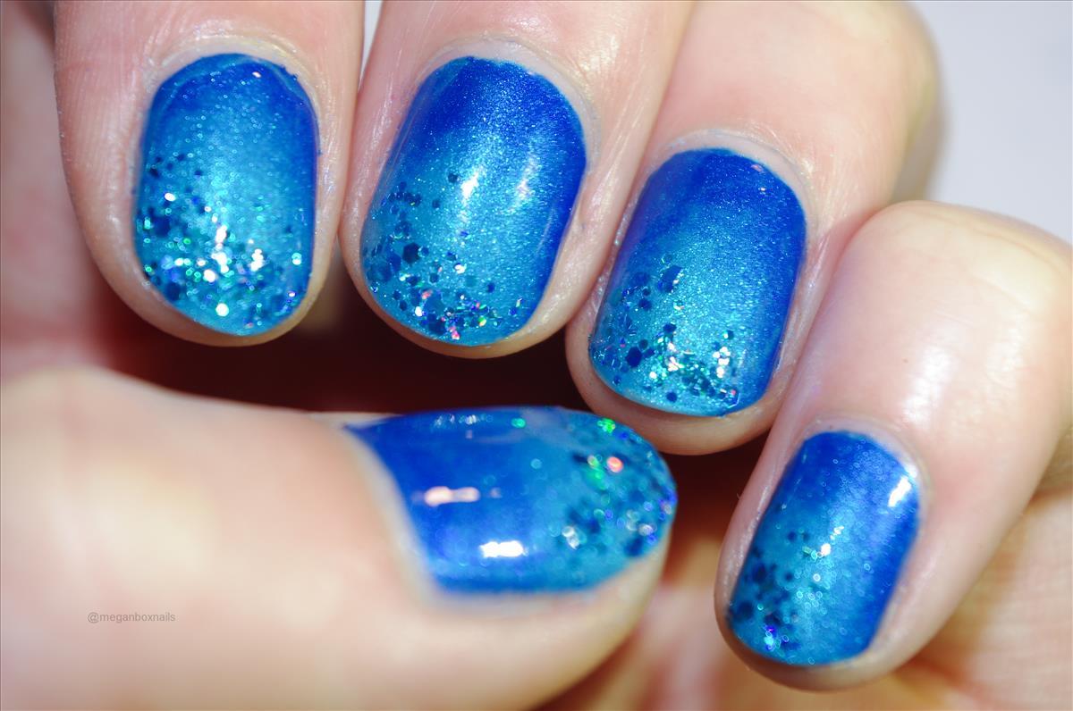 blue, glitter, nail art, nail polish, nails image 121774 on Favim