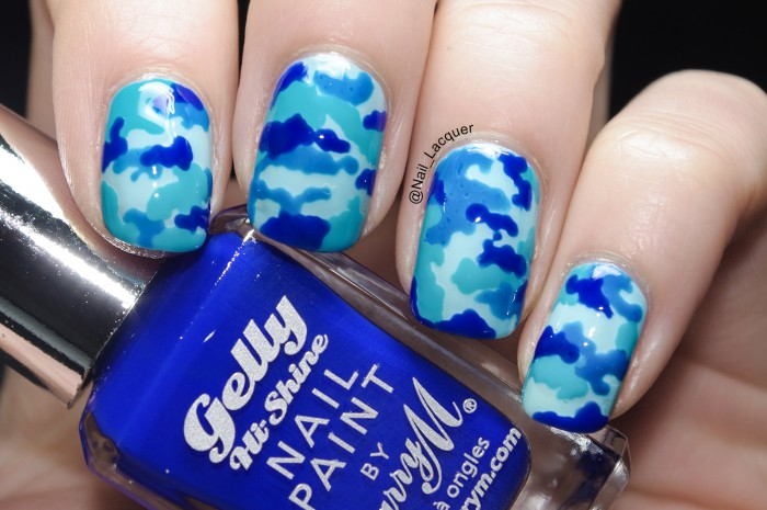 Hello, I'm here with a new camouflage nail art tutorial, however before  that a quick announcement for my new independent url! As soon as I changed  my name ... - Camouflage Nail Art Tutorial