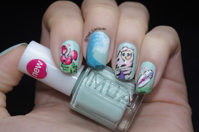 Beach themed nail art nail lacquer uk hey again i got my new brushes and the good news is that they are as good as i was hoping they would be as soon as i got them i decided prinsesfo Choice Image