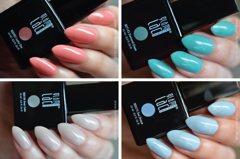 GlamLac Spring 2014 Soak-off Gel polish swatches - Nail Lacquer UK