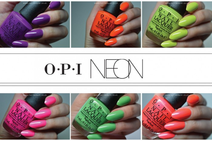 OPI Neon 2014 swatches - Nail Lacquer UK
