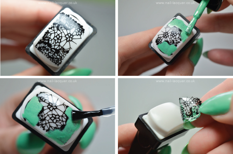Stamping decals tutorial - Nail Lacquer UK
