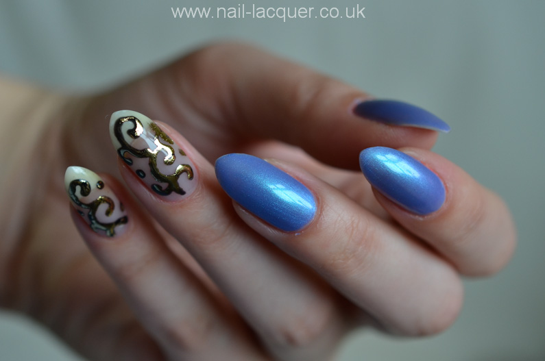 Foil nail art with gel polish tutorial - Nail Lacquer UK