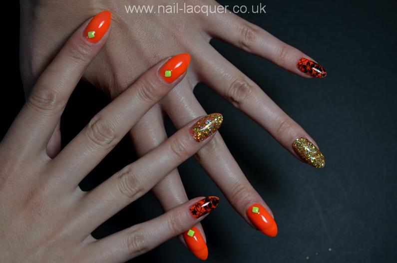 neon-orange-nails (5)