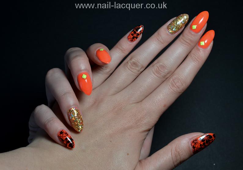 neon-orange-nails (7)