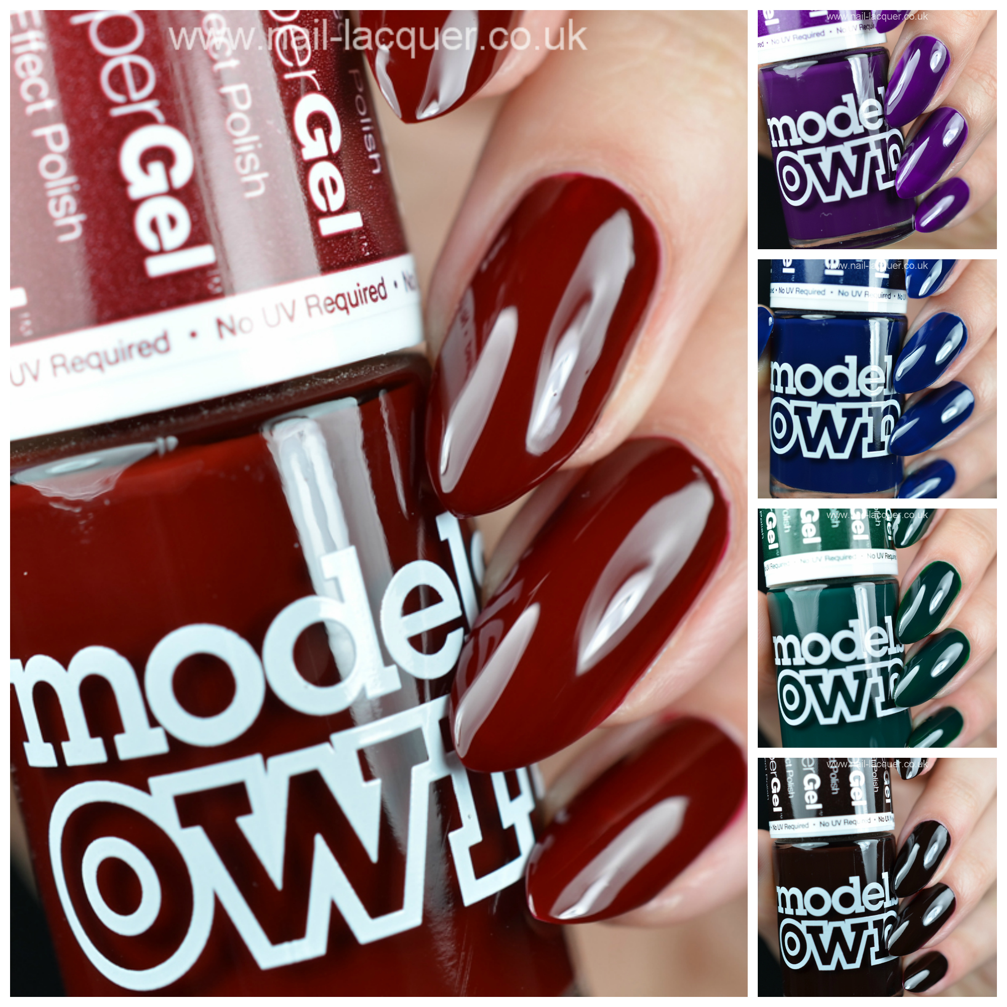 Models Own Autumn HyperGel swatches - Nail Lacquer UK