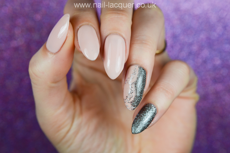 NailFX gel polish in nude and gun metal - Nail Lacquer UK