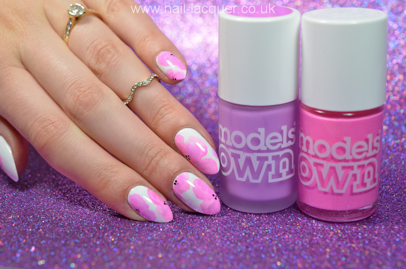 Pastel flowers nail art - Nail Lacquer UK