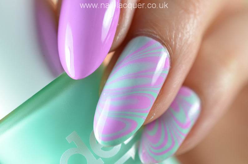 Water marble nail art - Nail Lacquer UK