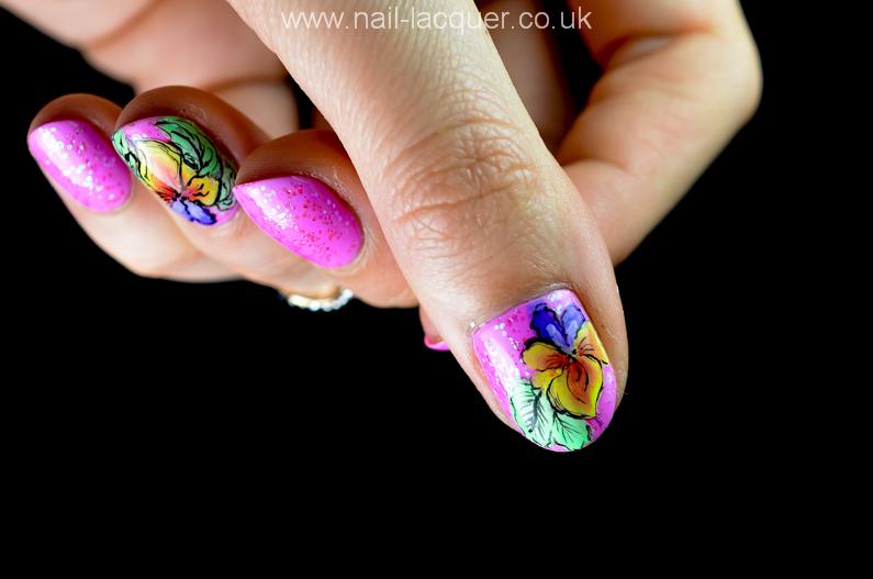 One Stroke Nail Art Tutorial Nail Lacquer Uk
