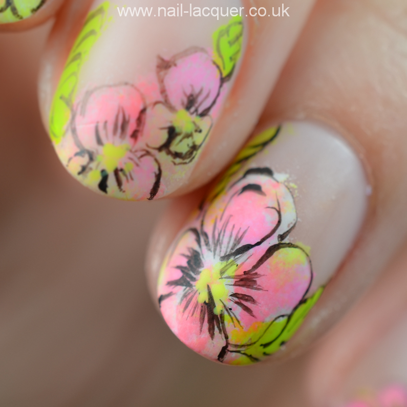 Neon Flowers Nail Art Tutorial Nail Lacquer Uk