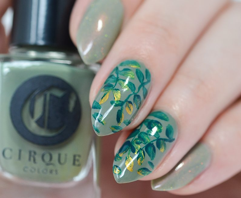Leaf Nail Art Tutorial By Nail Lacquer Uk Blog