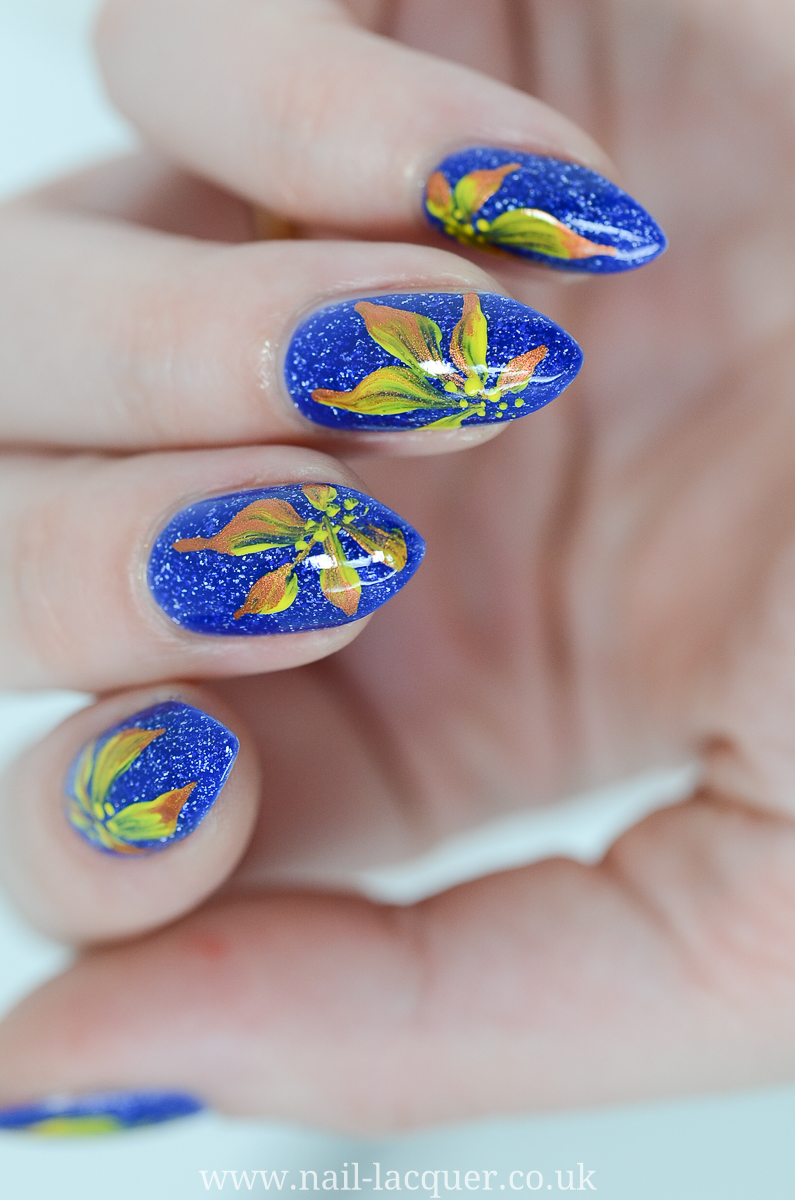 Easy Flower Nail Art Tutorial By Nail Lacquer Uk Blog